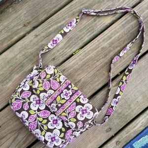Vera Bradley Crossbody Purple Floral